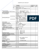 Checklist - Credentialing Initial DRAFT