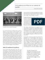 Combate de la pobreza en el Perú en un contexto de recensión mundial