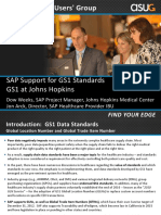 3510 SAP Support for GS1 Standards and GS1 Influence Council