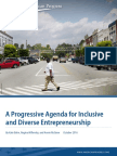 A Progressive Agenda for Inclusive and Diverse Entrepreneurship