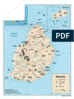 Map of Mauritius Pol 1990