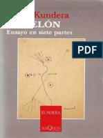 Estudio sobre Milan Kundera