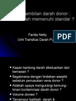Pengambilan Darah Donor