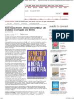 A Hora e a História Demétrio Magnoli