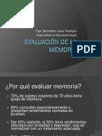 Evaluacion de La Memoria