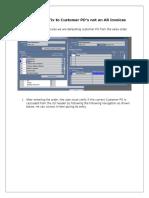 Analysis and Fix to Customer PO