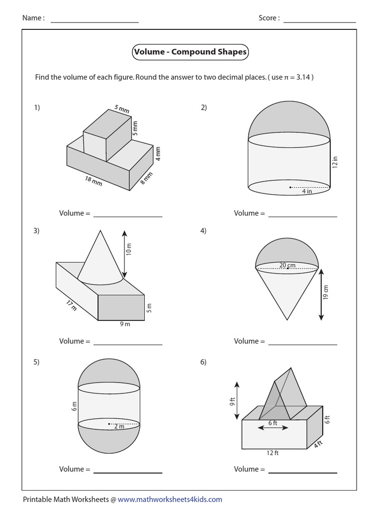 Compound Shapes Easy3