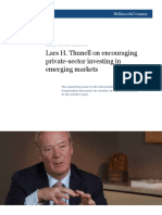Lars H Thunell on Encouraging Private-sector Investing in Emerging Markets