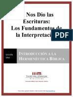 El Nos Dio Las Escrituras - 1