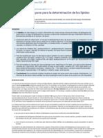 �Es necesario el ayuno para la determinacion de los lipidos plasmaticos-