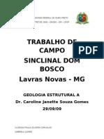 UFOP - Seminário Geologia Estrutural - Sinclinal Dom Bosco
