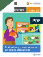 Ficha Extendida 23 Produccion y Comercializacion de Bolsos Artesanales