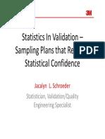 Statistics in Validation