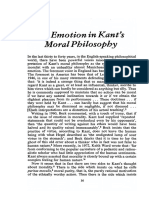 Emotion in Kant's Moral Philosophy