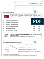 Grammar Games Adverbs of Frequency Worksheet