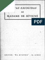 Madame de Sevigne. Cartas Escogidas