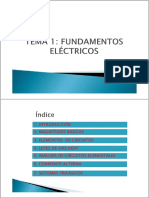 Tema 1.- Fundamentos Eléctricos
