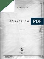 Scarlatti-sonata Em Lá