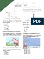 D5 – Resolver Problema Que Envolva Razões Trigonométricas No Triângulo