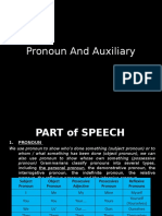 1. Pronoun and Auxilliary