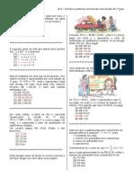 D19 – Resolver Problema Envolvendo Uma Função Do 1º Grau.