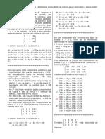 D31 –Determinar a Solução de Um Sistema Linear Associando-o à Uma Matriz.