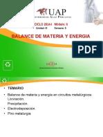 Balance de Materia y Energia - Semana 5