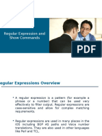 Regular Expression and Show Commands