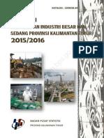 Direktori Perusahaan Industri Besar Dan Sedang Provinsi Kalimantan Timur 2015 2016