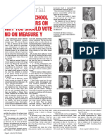 Ten former school board members on why you should vote No on Measure Y