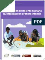 Documento N° 19 Cualificación del talento humano que trabaja con primera infancia