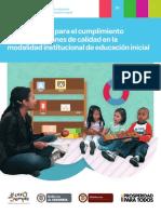 Guía N° 51 Orientaciones condiciones de calidad en la modalidad institucional de EI