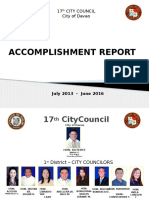 17th City Council Accomp Report