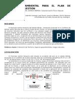 Sensibilidad Ambiental Para El Plan de Ordenacion y Gestion, Municipio Santos Marquina