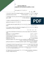 Guía de Estudio Nº 2 Problemas Propuestos Sobre Geometría Analítica y Rectas