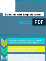 Spanish and English Idiom