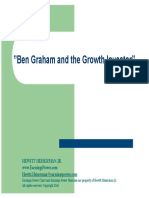 Ben Graham and the Growth Investor Talks @ Google Final 021616