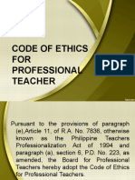 Code Of Ethics For Professional Teachers Br Article Iv