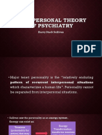 SULLIVAN Interpersonal Theory of Psychiatry