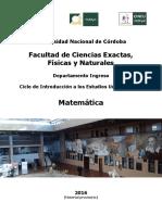 Matemática CINEU 2016 UNC