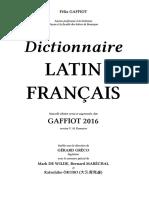 Dictionnaire LATIN FRANÇAIS
