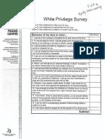 White Privilege Survey