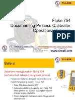 Fluke 754 Documenting Process Calibrator Operational Training