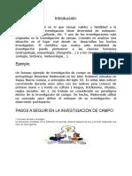 1.4 Investigacion Documental de Campo