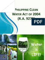 Revised RA 9275 (Phil Clean Water Act & Its Implementing Rules & Regulations)