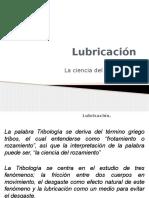 Lubricación y Tribología