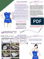 Instrucciones de Costura de Coqueto Conjunto de Corpino y Cachetero Mj3278c