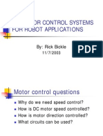 dc motor control for robotics applications