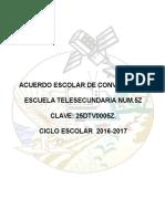 Normas de CONVIVENCIA Escolar 2016-2017