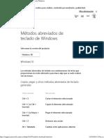WIN10 Métodos Abreviados de Teclado de Windows - Ayuda de Windows